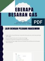 Beberapa Besaran Gas