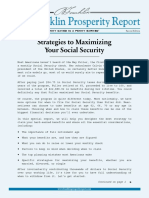 Strategies to Maximizing Your Social Security