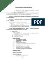 Proceso de Evaluación Del Riesgo