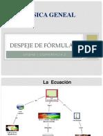 Fisica general -  despeje de formulas