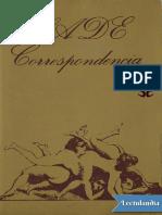 Correspondencia - Marqués de Sade