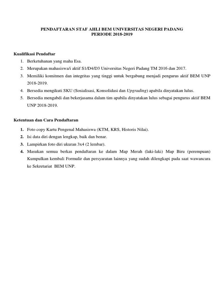 contoh essay pendaftaran bem