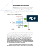 Activity-Based Product Costing Detailed Description