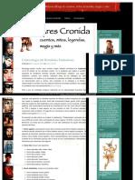 Criptozología (de Hominidos Fantasticos). Ares Cronida