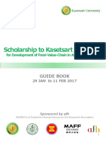 Guidebook of Scholarship to Kasetsart University 2017
