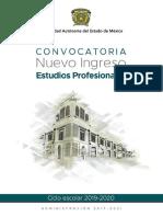 UAEMex convocatoria Estudios Profesionales 2019-2020