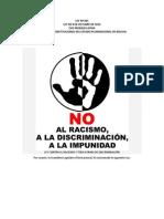 LEY CONTRA EL RACISMO Y TODA FORMA DE DISCRIMINACIÓN