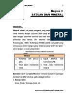 BAB III Batuan Dan Mineral