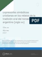 Antropología, religiosidad cristiana en el NOA