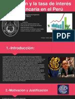 La inflación y la tasa de interés bancaria en el Perú