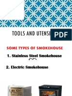 Tools Equipment and Utensils Food Processing