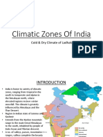 Cold and Dry Climatic Zone of India