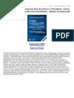 Curso de Redaccion Para Escritores Y Periodistas Teoria Y Ejerci Cios Indispensable Para E