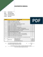 Informe Estadistico Mensual - Mdh Pd s.a.c - Pdp