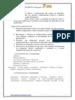 2º ano DISCIPLINA= Português