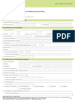 Religare Pre Auth Form