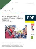 Marito Acusa a Cartes de Pinchar Teléfonos a Militantes Disidentes – Noticiero Paraguay