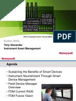 Honeywell EMEA12 Alexander Instrument Asset Mgmt