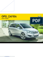 Opel Zafira 2012 Manual