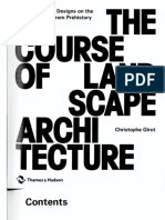 The Course of Landscape Architecture