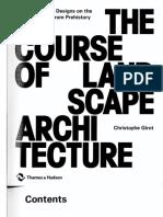 The Course of Landscape Architecture
