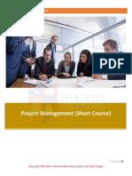 Project Management Short Course