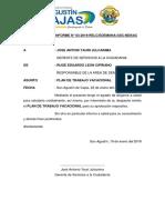 Informe n. 3 Plan de Vaciones Utiles