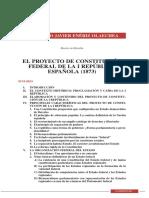 El Proyecto de Constitución Federal de La i República Española