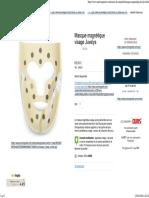 Masque Magnétique Visage Juvelys - Tête - Zones Du Corps