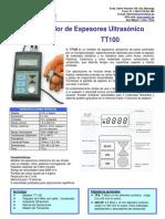 Equipo Medidor de Espesor Por Ultrasonido Ft_tt100_pe