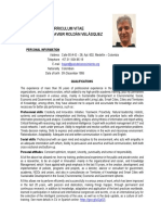 Curriculum Vitae CV Francisco J. Roldán V. - BID