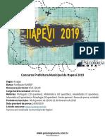 Mapa Da Prova Itapevi 2019