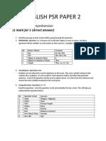 English Psr Paper 2
