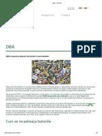 DBA - Deseuri de baterii si acumulatori