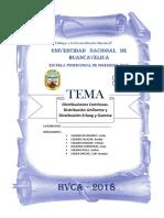 Distribuciones Contínuas Trabajo Univercidad Nacional Hvca