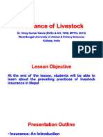 Lesson 11 Insurance of Livestock