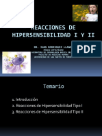 Reacciones de Hipersensibilidad I y II