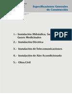 Especificaciones Generales de Construccion Issste