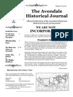 Avondale Historical Journal Vol 1 Issue 6
