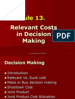 Module 13 Relevant Costs in Decision making 26.7.12.ppt
