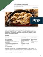 Panypizza.com-Bollos Navideños de Canela y Chocolate