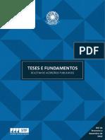 Teses Fundamentos STF compilado 2018