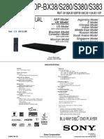 Manual Bluray Sony Bdp Bx38 Bdp s280 Bdp s380 Bdp s383