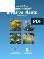 New York State Prohibited and Regulated Invasive Plants (2014)