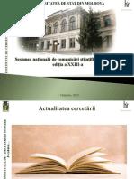 Model de Prezentare, Sesiunea Națională de Comunicări Științifice Studențești, Ediția XXIII