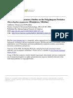 A Method for Laboratory Studies on the Polyphagous Predator