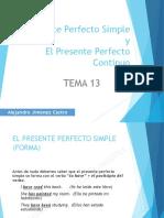 Tema 13 (Presente Perfecto)