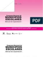 Manual de Capacitacion de Municipios Escolares