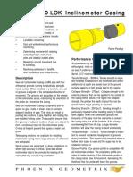 Geo-Lok Inclinometer Casing -Tests