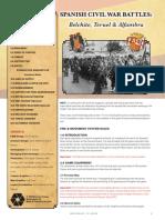 World at War #62 Spanish Civil War Battles Rules